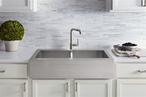 kohler stainless steel farm sink best farmhouse sinks how to choose an apron front sink