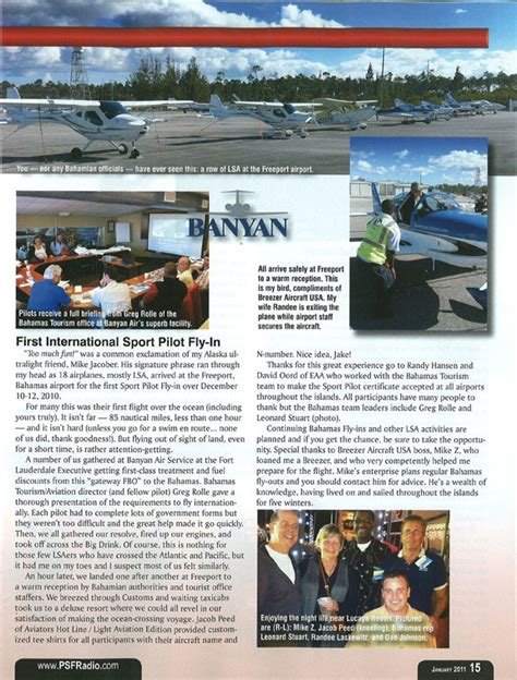 Eaa Sweepstakes - light sport aircraft moving statistics and sweepstakes eaa article banyan air