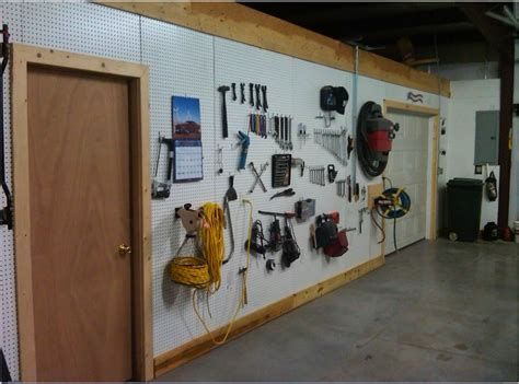Peg Board Garage by Garage Pegboard Wall For The Home