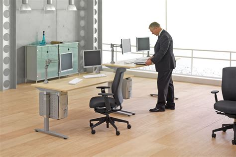 Standing Workstations Marku Home Design Benefits Of Adjustable Desks For Standing Or Sitting