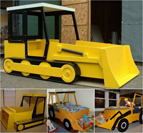bulldozer bed diy tractor bunk bed for boys