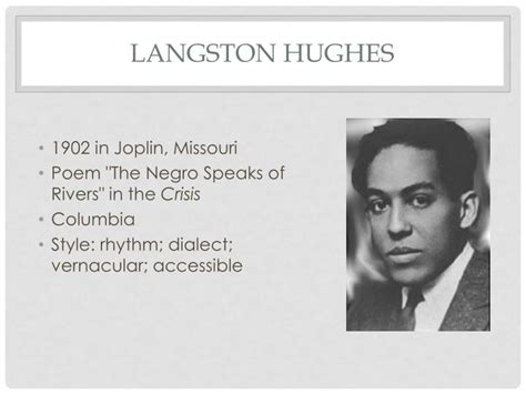 langston hughes biography quiz langston hughes poems the negro speaks of rivers www