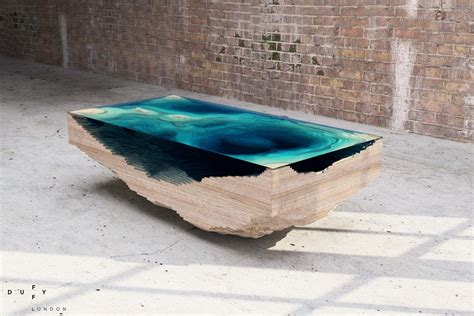 cool table designs hypnotizing as the sea sculptural 3d abyss table by duffy