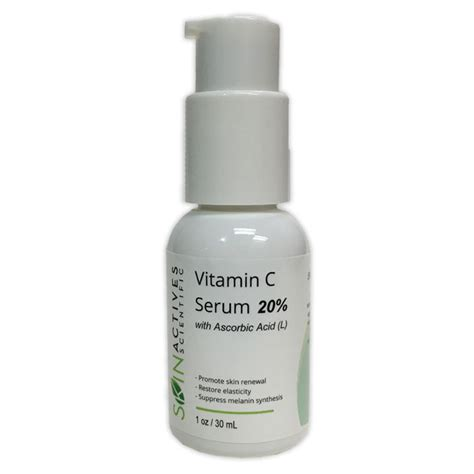 skin actives 20 vitamin c serum with l ascorbic acid