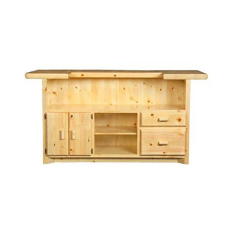 Locking Bar Cabinet Pine Log Collection Log Bar W Locking Cabinet Log036