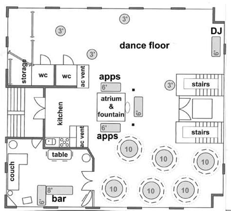 party floor plan sle floor plans and room setup ideas to create your own