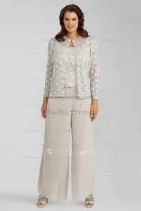 Home elegant lace 3 piece mother of the bride pants suit nmo 029