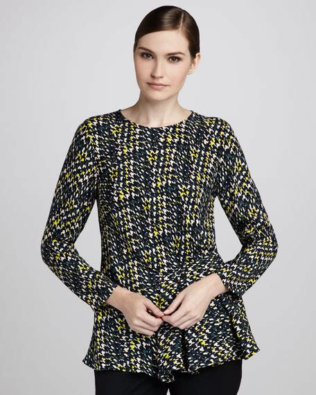 Blouse Houndstooth lafayette 148 new york cicely houndstooth blouse