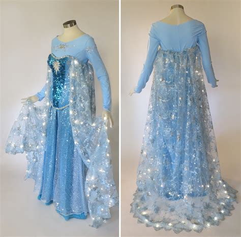 frozen light up dress light up frozen elsa cosplay costume by glimmerwood on