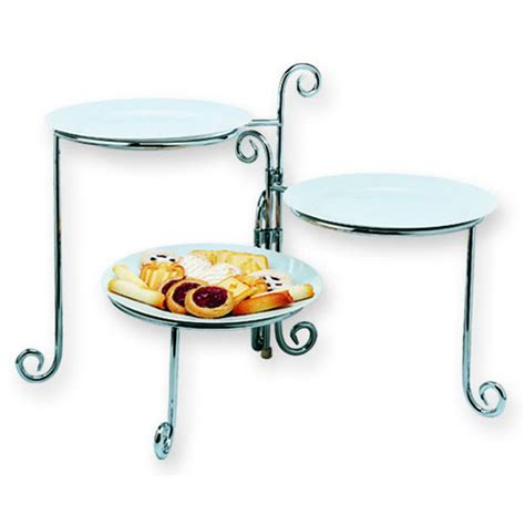 Tiered Plate Rack by 3 Tier Folding Plate Rack Chrome In Serving Dishes