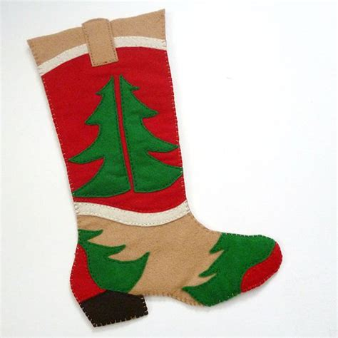Cute Pattern Stockings | free cowboy boot christmas stocking pattern cute boots