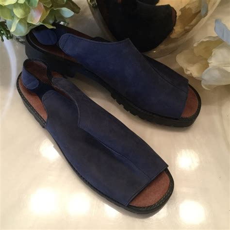 marks spencer new womens blue sandals us 10 uk 7