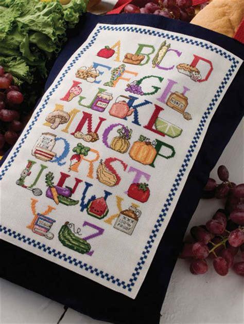 Alphabet Kitchen by Cross Stitch Handbag Tote Patterns Kitchen Alphabet Tote