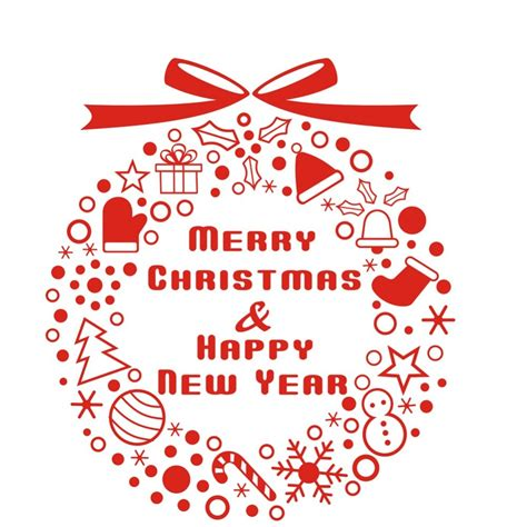 merry christmas happy  year christmas window sticker christmas decor ornament bells decal