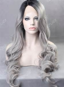 best shoo for gray hair for evahair best seller hot grey silver ombre wavy long