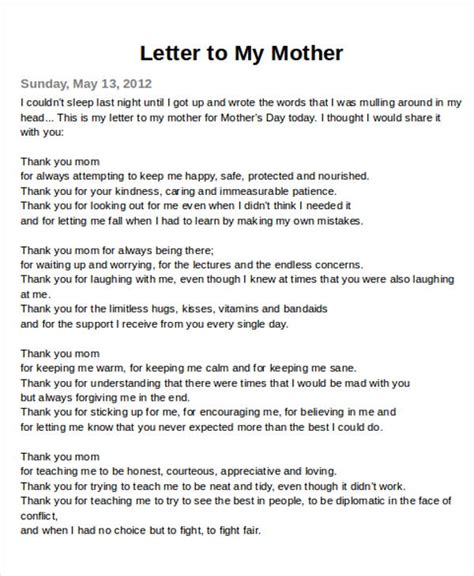 A Mothers Letter Who Gave The Order To Kill My Children | sle thank you letter to mom 5 exles in word pdf