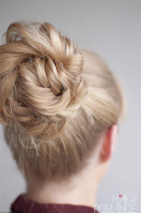hairstyles buns braids hairstyle tutorial fishtail braided bun hair romance