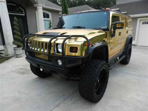 gold hummer purchase used 2007 hummer h2 chrome gold lifted with 24