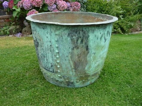 large outdoor large outdoor planters large plant pot large copper