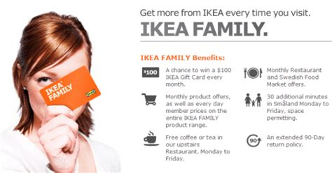 Ikea Gift Card Discount - ikea family membership canada free coffee chance to win 100 ikea gift card member
