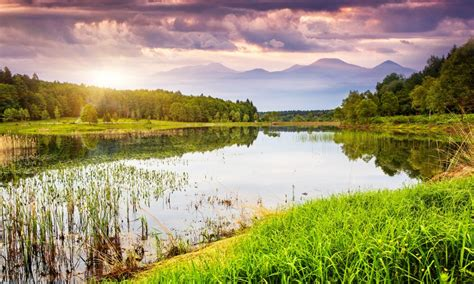 Landscape Pictures Fantastic Landscape With Lake Wallpapers 1280x768 500818