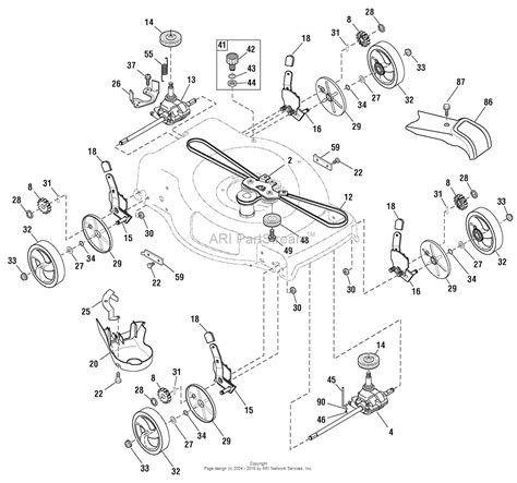 snapper mower parts diagram snapper 1696664 00 96144001000 sn625awd 625 series 22