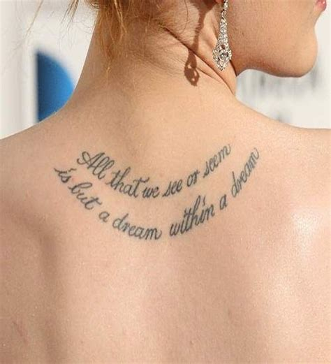 ladies back tattoo quotes 25 best ideas about women shoulder tattoos on pinterest