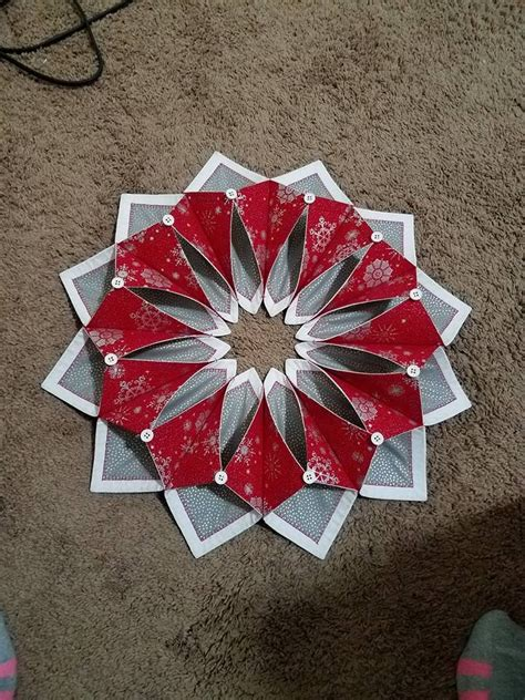 Patchwork Wreath Pattern - 17 best images about fold n stitch wreath ideas on