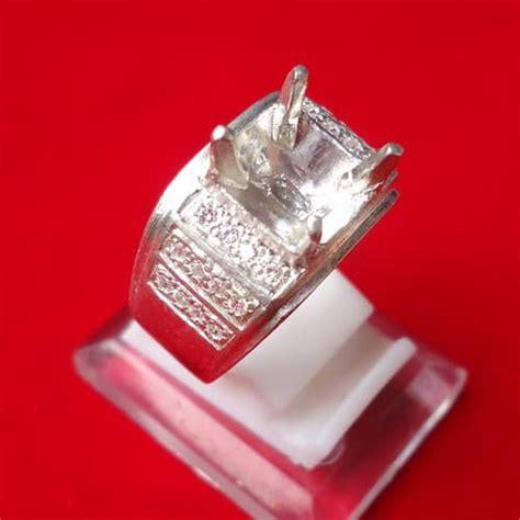 Dijamin Senter Batu Cincin Model Pulpen Silver model cincin perak kode 106 pusaka dunia