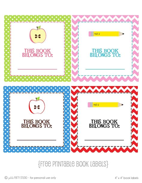 book label templates 6 best images of free printable book labels school book
