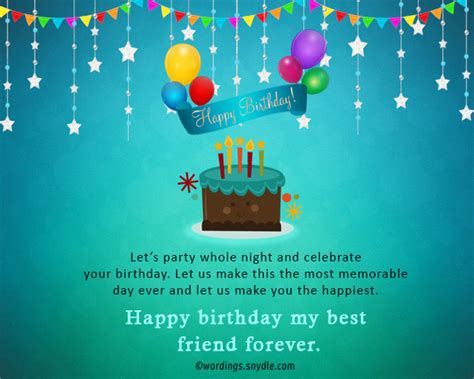 best friends forever messages birthday wish for best friend forever wordings and messages