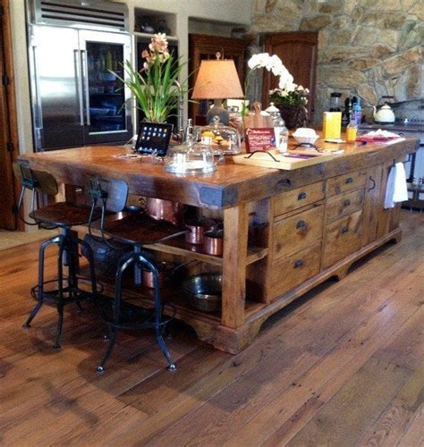 reclaimed kitchen islands reclaimed granary board center island porter barn wood
