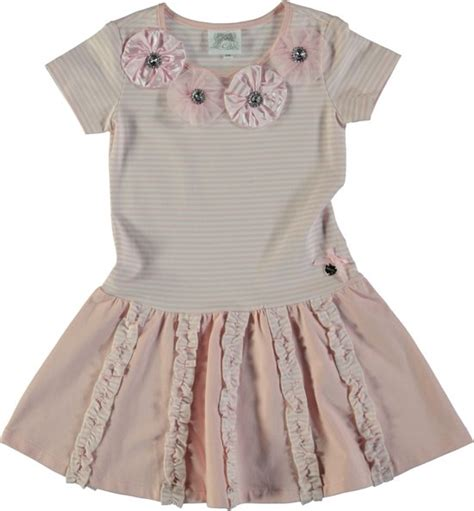 jurken le chic bol le chic meisjes jurk powder pink maat 140