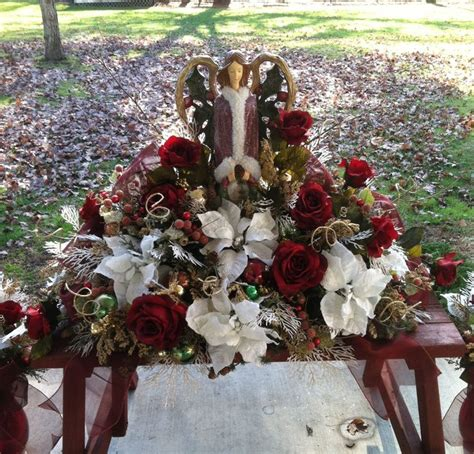christmas grave saddle for my sister angela s flowers