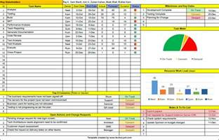task management template excel free one page project manager excel template free
