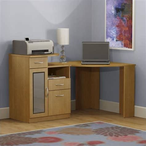 corner computer desk for home bush furniture vantage corner home office wood light