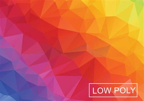 Abstract Abstract Background low poly rainbow abstract background vector