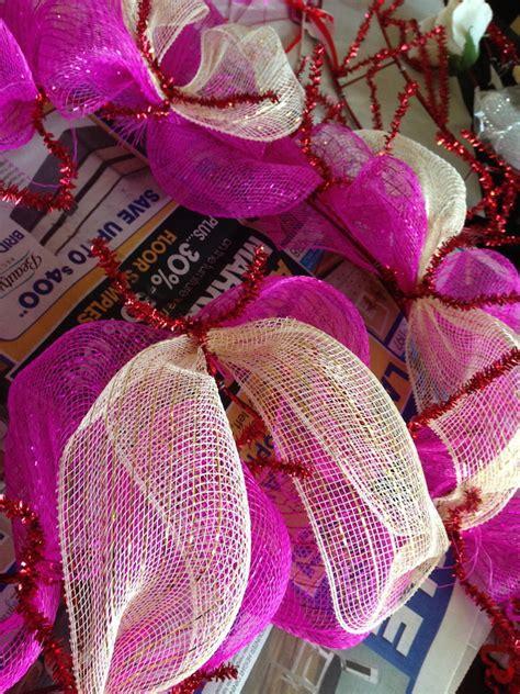 valentines mesh wreath s day deco mesh wreath tutorial just plum