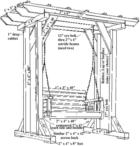 swing plans woodworking wooden swing plans search ww outdoor furniture