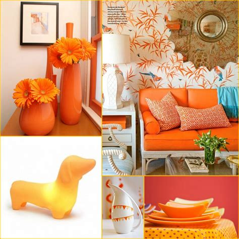 orange home decorations orange color inspiration ania archer