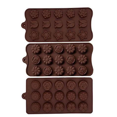 Stick Silicone Chocolate Mold minchsrin non stick 3pc molds chocolate molds