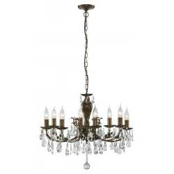 Antique Brass Chandelier With Crystals Dutchy Solid Brass And Chandelier With Antique