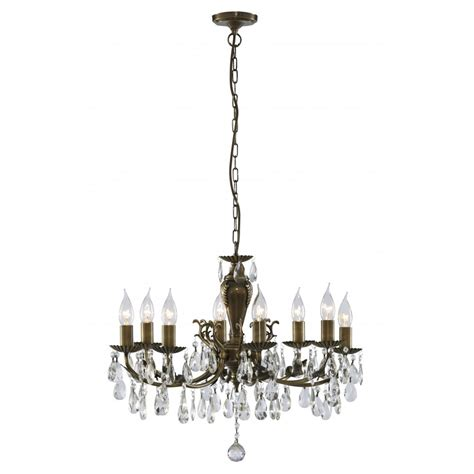 Brass Chandelier Antique Dutchy Solid Brass And Chandelier With Antique Finish