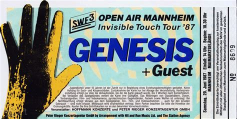 genesis ticket mannheim 20th june the genesis archive