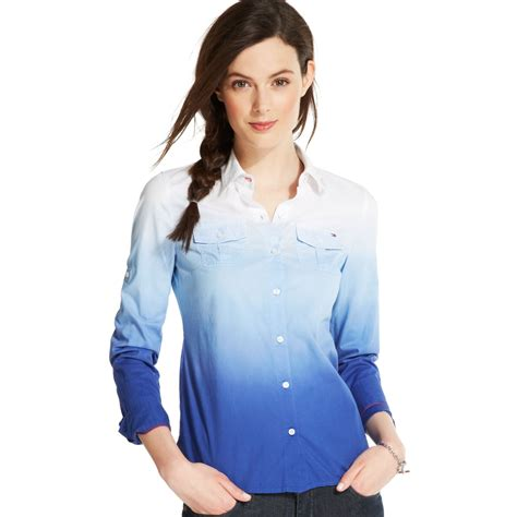 Longsleeve Tara Shirt hilfiger longsleeve ombre buttondown shirt in blue lyst