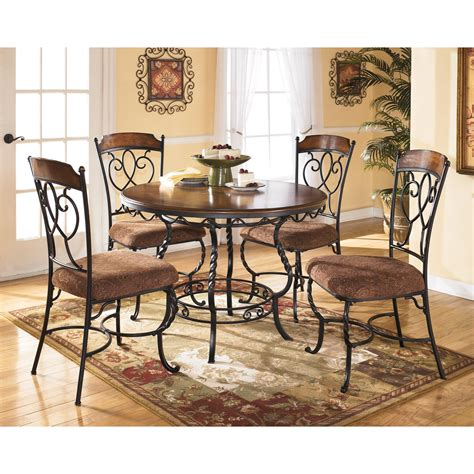 kitchen dining furniture signature design by ashley nola 5 piece round dining table