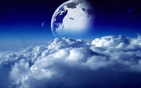 beautify worldwide sci fi naturaleza espacio nubes cielo planetas sue 241 o luna