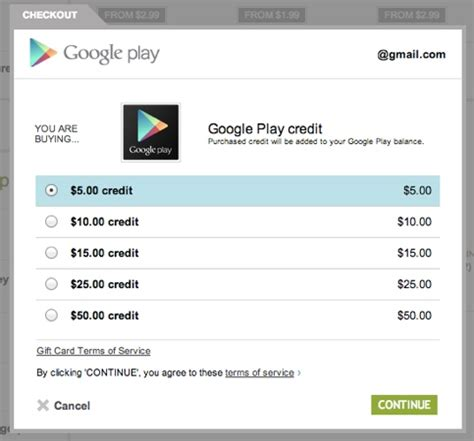 Sell Google Play Gift Card Online - google play store credits now available online from google