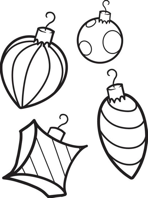 christmas ornament tree to color free printable ornaments coloring page for 1