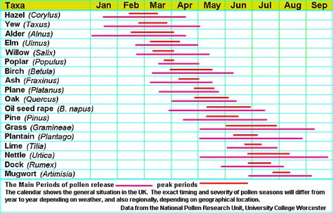 Allergy Season Calendar Willow As A Diverse Habitat Benefiting Pollinating Insects